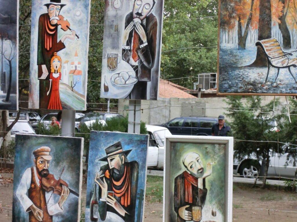 Marché aux puces de Tbilissi Georgia